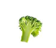 Broccolo isolato su priorità bassa bianca Fotografie Stock Libere da Diritti