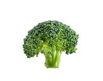 Broccolo isolato su priorità bassa bianca Fotografie Stock