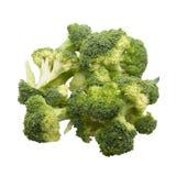 Broccolo isolato su priorità bassa bianca Fotografia Stock