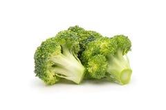 Broccolo isolato su priorità bassa bianca Immagine Stock Libera da Diritti