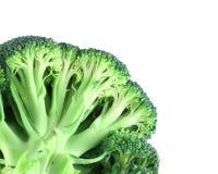 Broccolo nell'angolo su bianco Immagine Stock