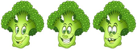 broccolo Raccolta dell'emoticon di Emoji dell'alimento illustrazione di stock