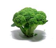 Broccolo su bianco alimento, oggetto Fotografia Stock