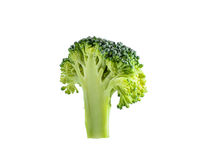 Broccolo su priorità bassa bianca Immagini Stock Libere da Diritti