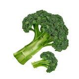 Broccolo su priorità bassa bianca Immagine Stock Libera da Diritti