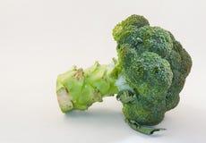 Broccolo su priorità bassa bianca Fotografia Stock Libera da Diritti