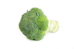 Broccolo su una priorità bassa bianca Immagini Stock
