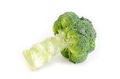 Broccolo su una priorità bassa bianca Fotografia Stock