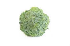 Broccolo su una priorità bassa bianca Fotografia Stock Libera da Diritti