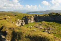 Broch dell'isola di Beag Skye del Dun, Scozia Fotografia Stock