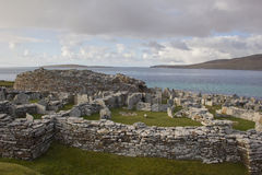 Broch of Gurness. Ancient settlement on Orkneys mainland Stock Image