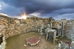 Broch of Gurness. Ancient settlement on Orkney`s mainland Stock Photo