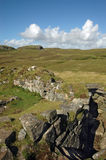 Broch van het eiland van Dun Beag Skye, Schotland Stock Foto