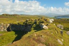 Broch van het eiland van Dun Beag Skye, Schotland Stock Afbeelding