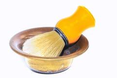 Brocha de afeitar. foto de archivo