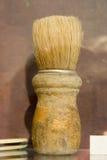 Brocha de afeitar antigua Imágenes de archivo libres de regalías