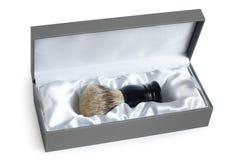 Brocha de afeitar en rectángulo Imagen de archivo libre de regalías