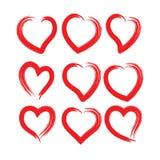 Brocha del corazón - vector y ejemplo fotografía de archivo