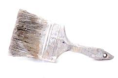 Brocha usada y sucia aislada Imagen de archivo
