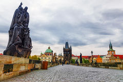 brocharles tjeckisk prague republik Arkivbilder