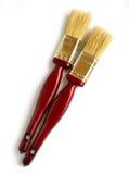 Brochas - herramientas de la pintura Fotos de archivo libres de regalías