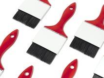 Brochas rojas con las etiquetas en blanco representación 3d Fotografía de archivo libre de regalías