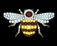 Broche-abeja Imagen de archivo libre de regalías