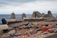 Broche baltique Vue de la mer baltique images libres de droits