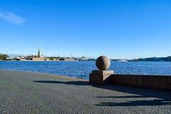 Broche d'île de Vasilievsky à St Petersburg, Russie Photo stock