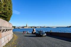 Broche d'île de Vasilievsky à St Petersburg, Russie Photo libre de droits