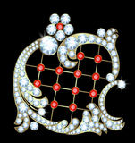 Broche d'or Images stock