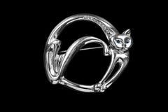 Broche dado forma gato Foto de Stock Royalty Free