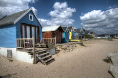 Broche de Mudeford, point de Hengistbury Images libres de droits