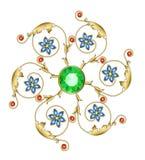 Broche de oro Imagen de archivo libre de regalías