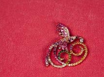 Broche de oro de la joyería Foto de archivo