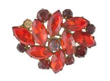 Broche del rubí Foto de archivo libre de regalías