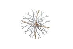 Broche dourado com diamantes Imagens de Stock Royalty Free