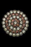 Broche hermosa del rhinestone Foto de archivo libre de regalías
