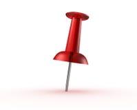 Broche rouge de poussée Images libres de droits