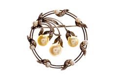 Broche victorienne de perle. photo libre de droits