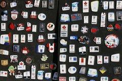 Broches 2010 de collecteur de Jeux Olympiques de Vancouver Photos stock