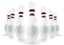 Broches de bowling Photos stock