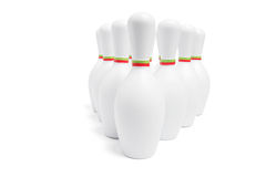 Broches de bowling image stock