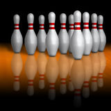 Broches de bowling Images stock