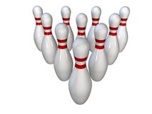 Broches de bowling Images libres de droits