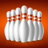 Broches de bowling Photographie stock libre de droits