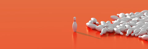 broches de bowling 3d blanches Images libres de droits