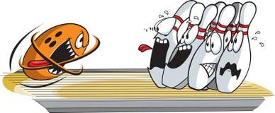 Broches de bowling terrifiées illustration de vecteur