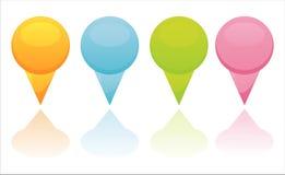 broches de cartographie colorées Photo libre de droits
