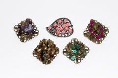 Broches do joalheiro do handwork Foto de Stock Royalty Free